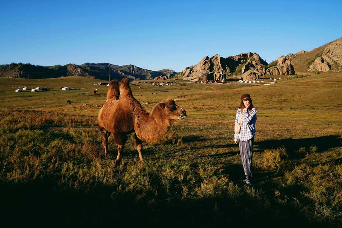 Den mongoliska stäppen kände sig Sandy lugn. Här i Terelj National Park.