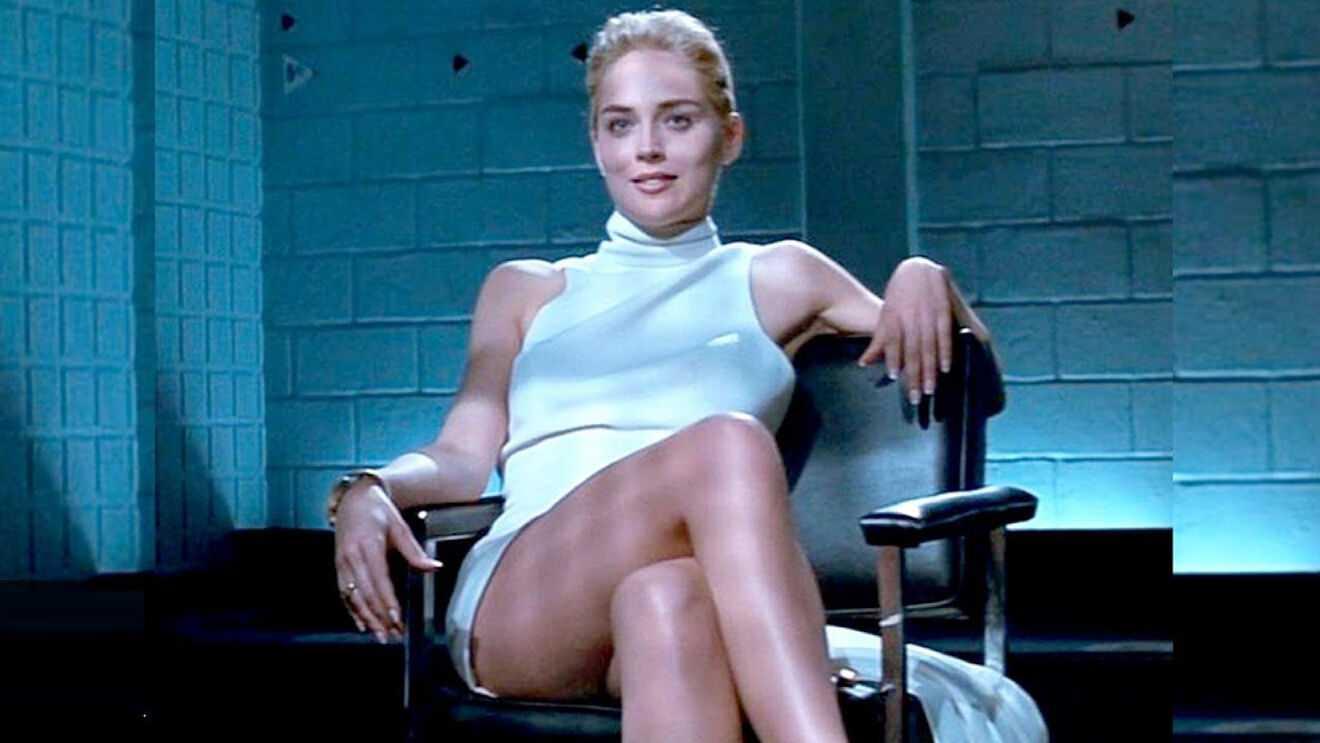 """Sharon Stone i """"Basic instinct"""" (1992)."""