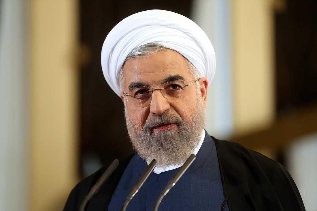 Irans president Rouhani har hamnat i ordkrig med Trump.