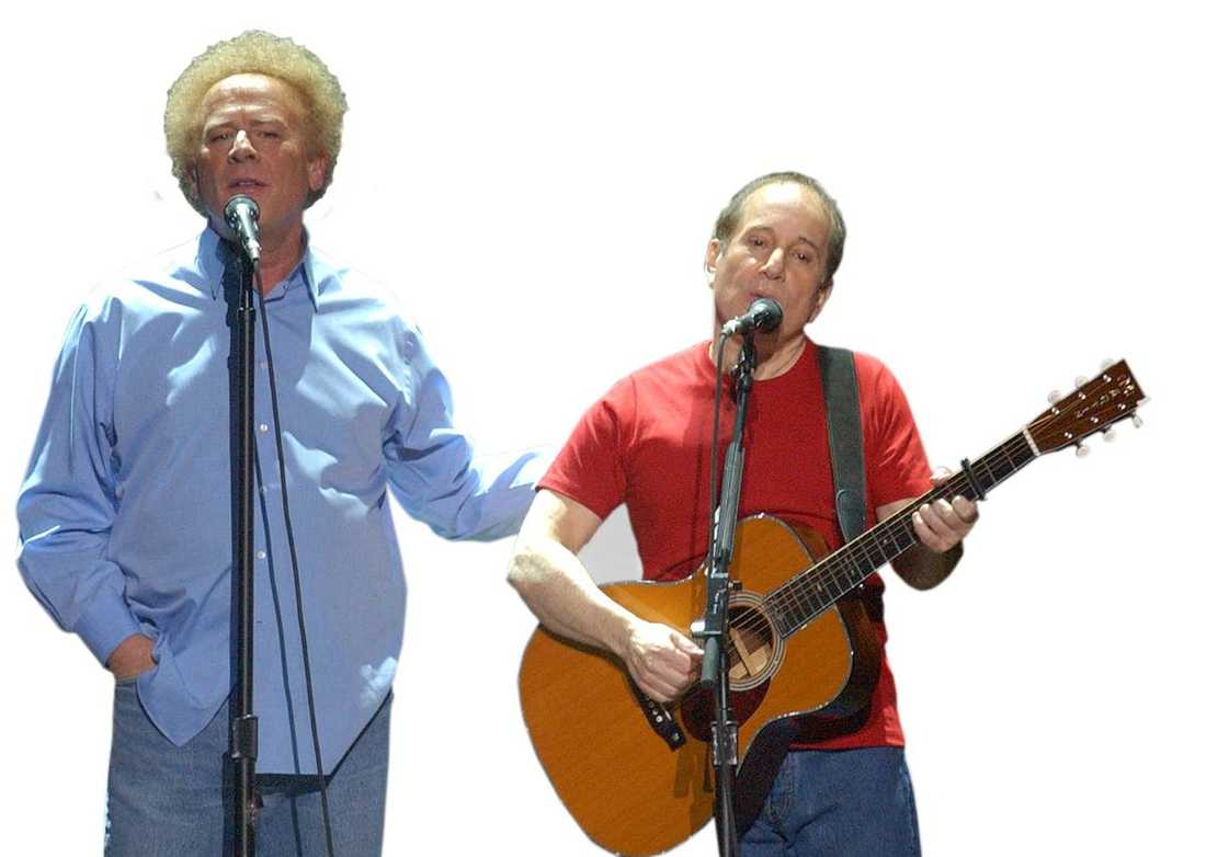 Art Garfunkel och Paul Simon i Madison Square Garden 2003.