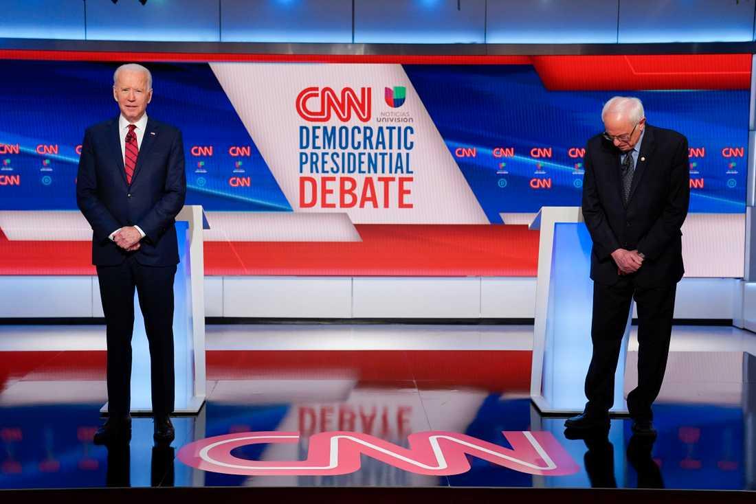 Joe Biden och Bernie Sanders.