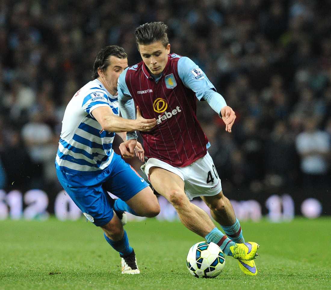 Jack Grealish gjorde 16 ligamatcher för Aston Villa när klubben åkte ur Premier League 2015–16. Nu är den egenfostrade mittfältaren klubbens stora stjärna när Villa åter spelar i Premier League. Arkivbild