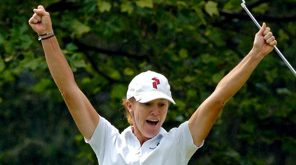 Helen Alfredsson under sin framgångsrika golfkarriär.