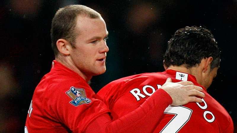 Rooney och Ronaldo.