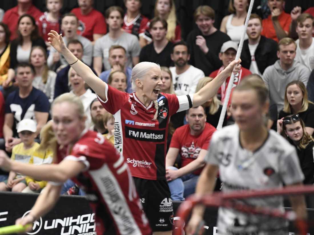 Kais Moras Anna Wijk slår troligtvis det totala poängrekordet i damernas SSL:s i matchen mot Karlstad på söndag. Arkivbild.