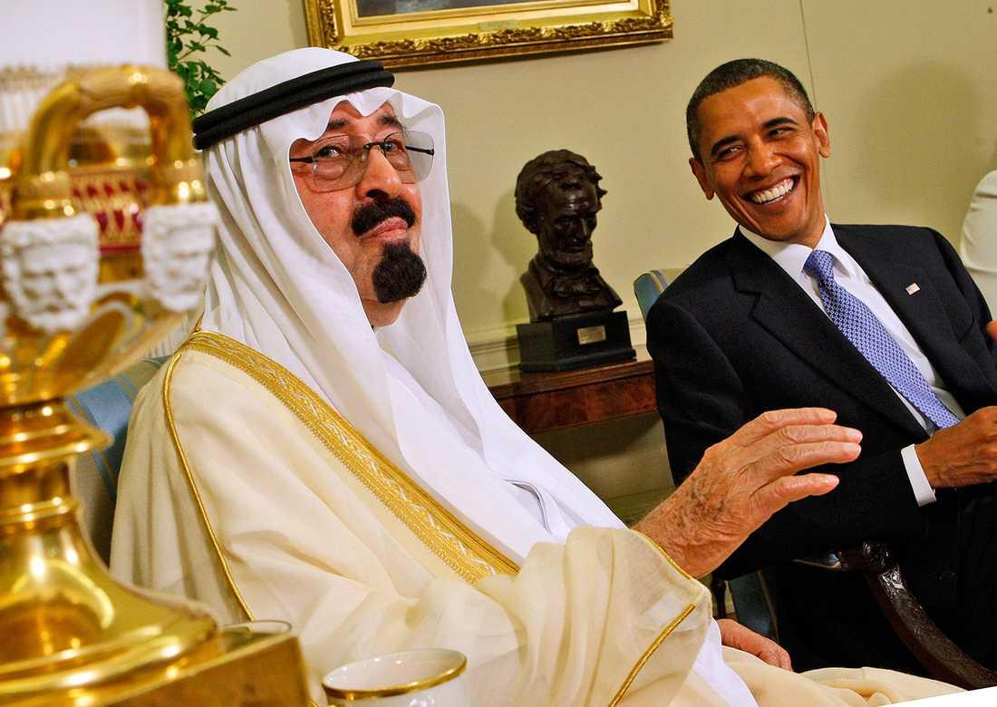Obama med Abdullah.