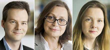 Fuskare Jan Persson, Ann Uddén Sonnegård och Nicola Clase, tre av de tio moderata statssekreterarna som erkänt.