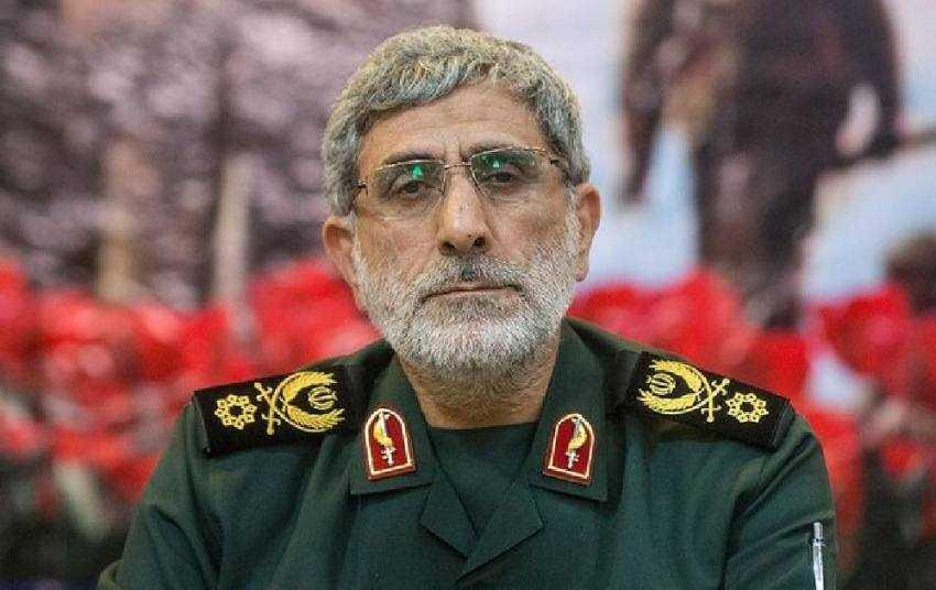 Soleimanis efterträdare Esmail Qaani. Qaani har varit Soleimanis högra hand sedan 1997.