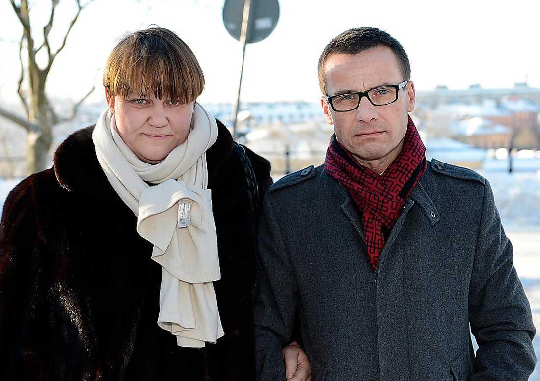 Socialförsäkringsminister Ulf Kristersson (M) med sin fru Birgitta Ed Kristersson. – Anders Carlberg var en otrolig eldsjäl, säger Ulf Kristersson.