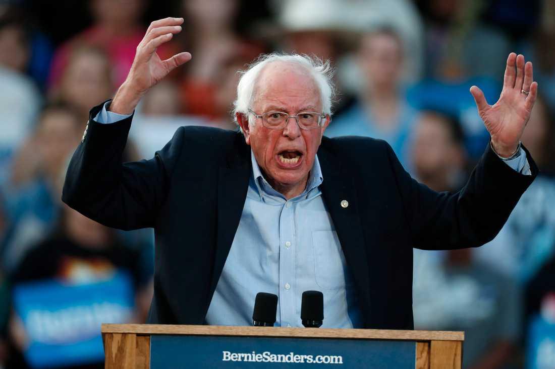 Den demokratiske presidentaspiranten och Vermontsenatorn Bernie Sanders i Colorado.