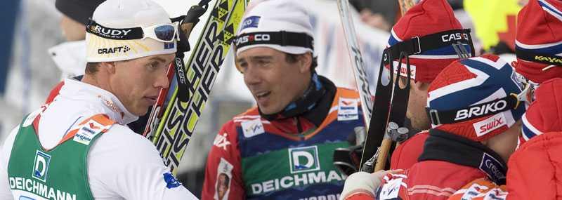 Marcus Hellner gratulerar norrmännen.
