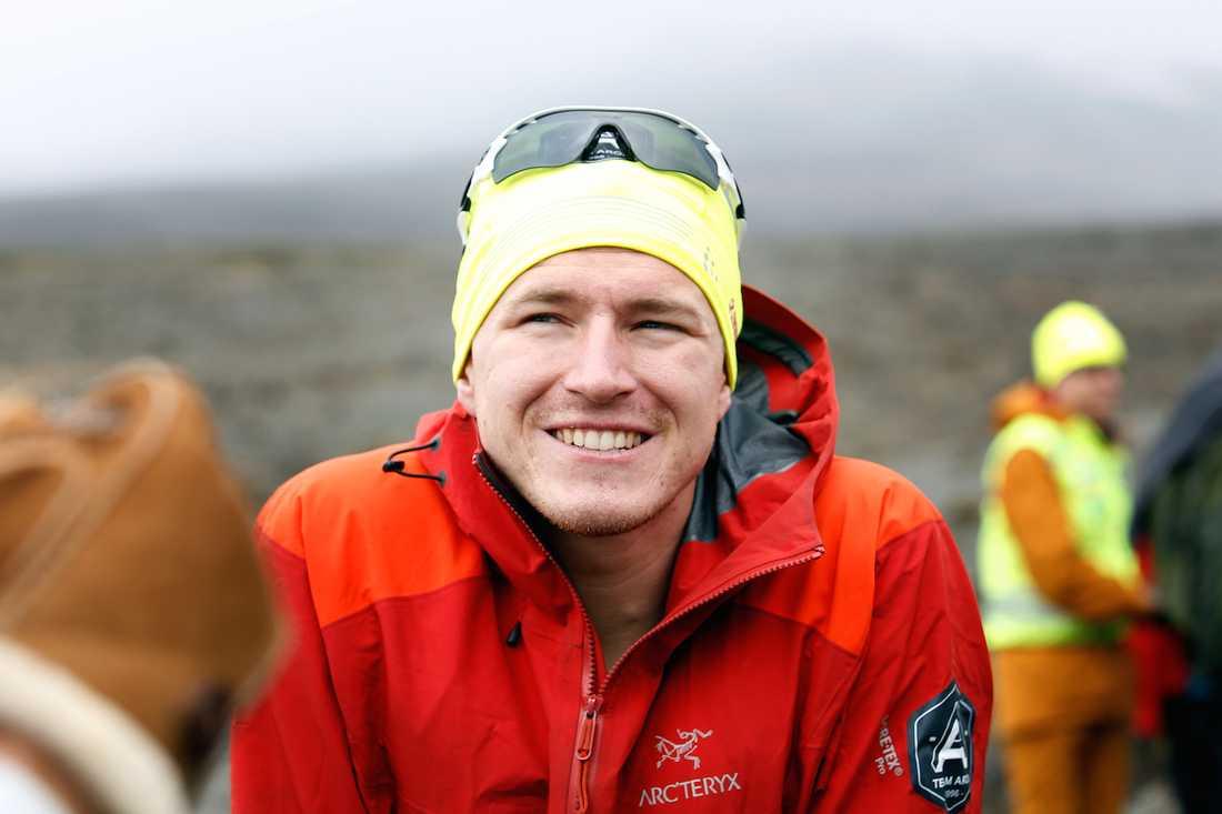 Aron Andersson nöjd äventyrare. Kilimanjaro-projektet gav 800 000 till Barncancerfonden. Foto: JOHAN PAULIN