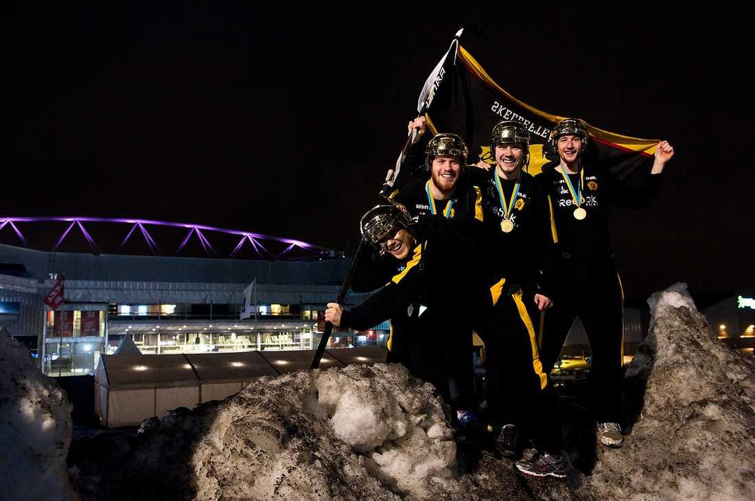Vad som än krävs I går visade det sig att det som krävdes var fyra matcher – sen kunde Viktor Arvidsson, Oscar Lindberg, Petter Emanuelsson och Melker Karlsson plantera Skellefteåflaggan i snön i Luleå.