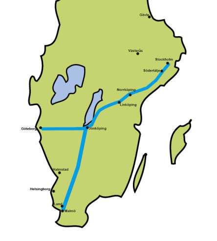 De nya stambanorna bedöms klara hastigheter upp till 320 kilometer i  timmen. Enligt Trafikverket skulle restiden mellan Stockholm och  Göteborg med nya höghastighetståg kunna minskas till 2 timmar och  mellan Stockholm och Malmö till 2,5 timmar.
