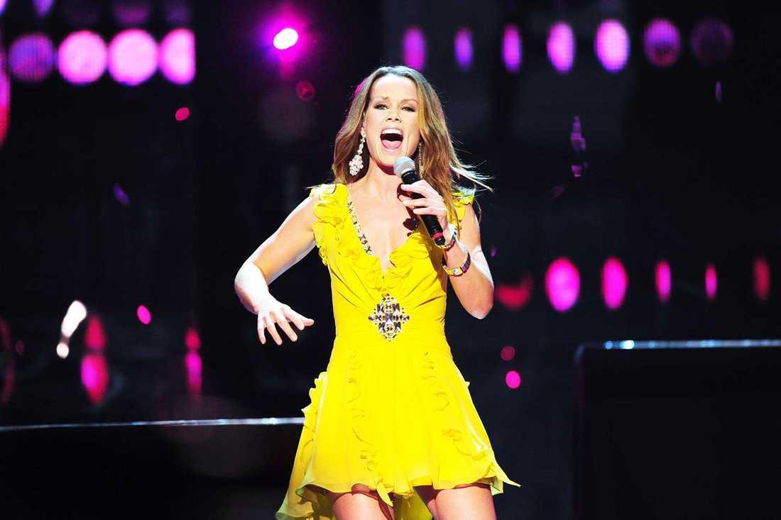 Linda Bengtzing i Melodifestivalen 2011.