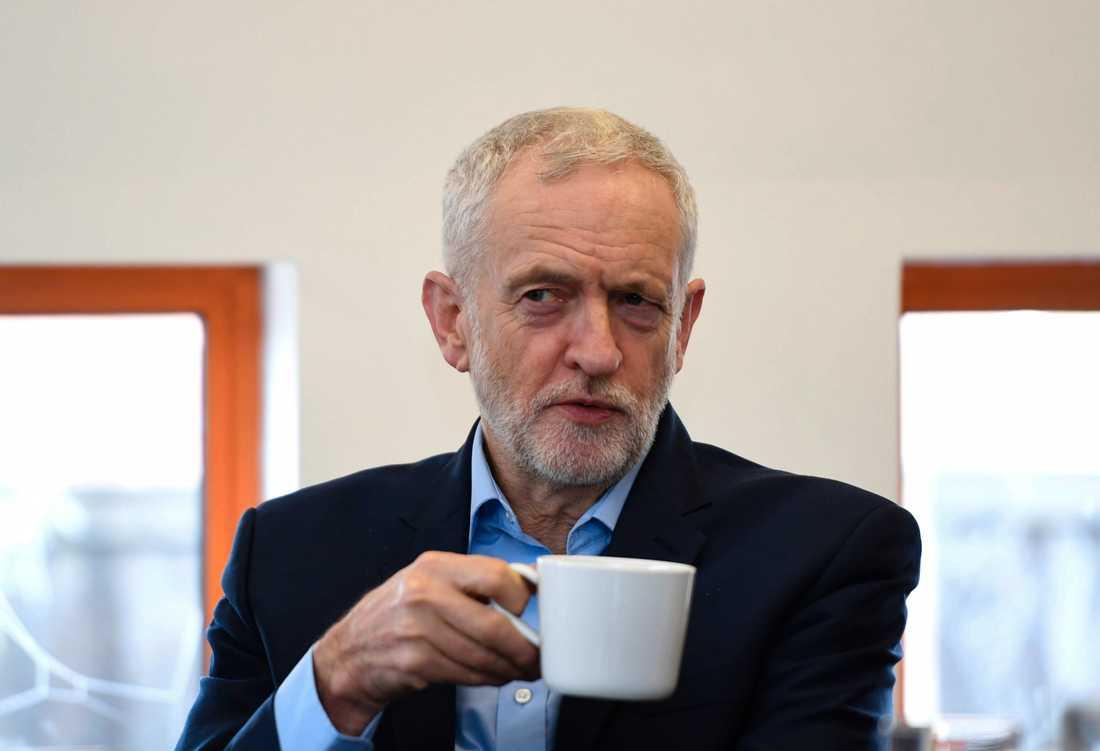 Stöd för en mjukare brexit från oppositionsledaren Jeremy Corbyn kan bli nödvändigt om den brittiska regeringen ska få igenom sitt brexitavtal. Arkivfoto.
