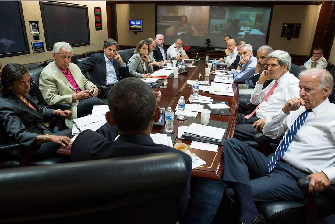 Obama samlade sina rådgivare i Vita huset efter tv-talet.