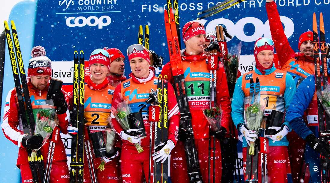 Åtta ryska åkare på pallen i Lillehammer i helgen