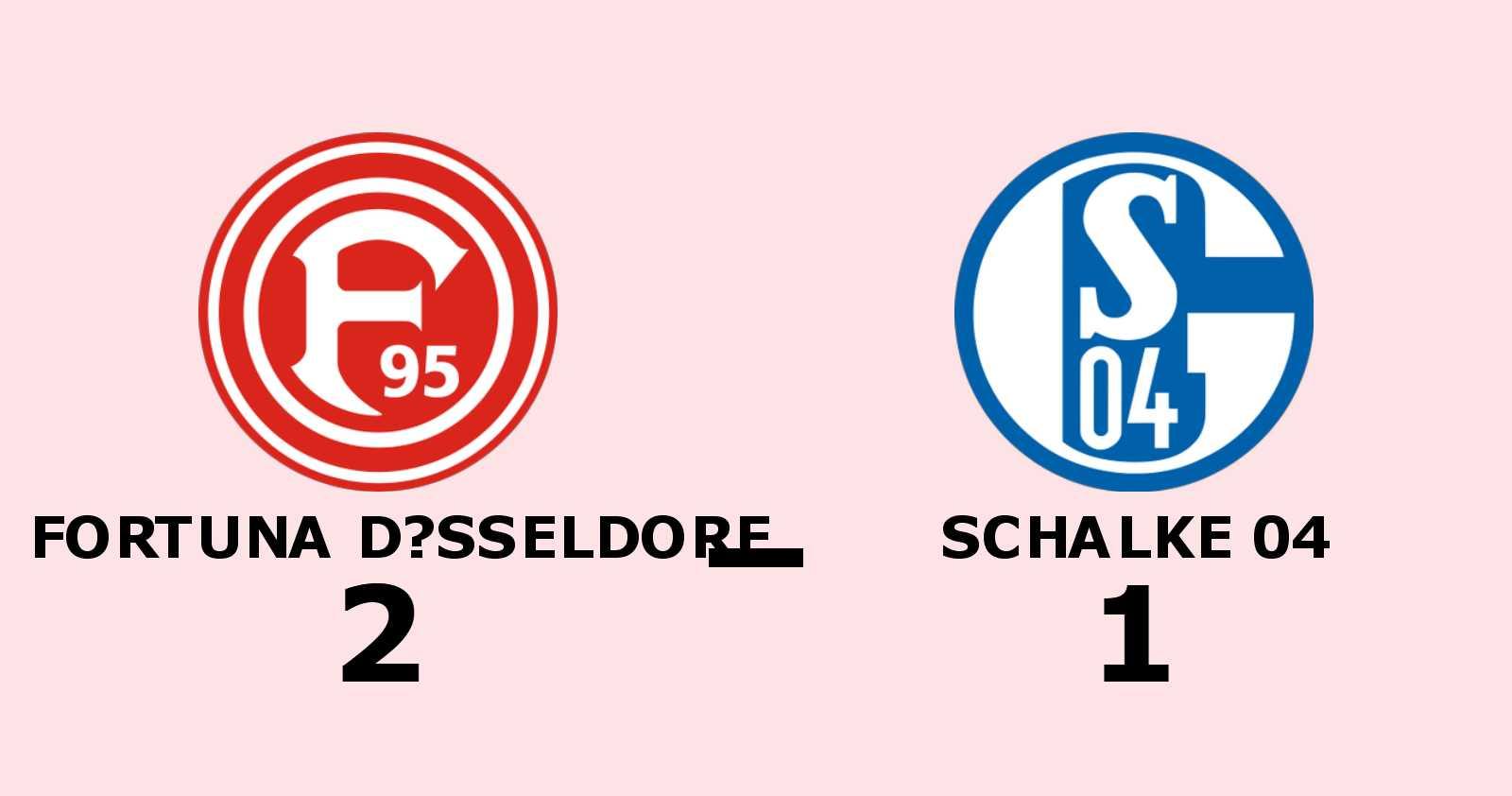 Fortuna Düsseldorf avgjorde i andra halvlek mot Schalke 04