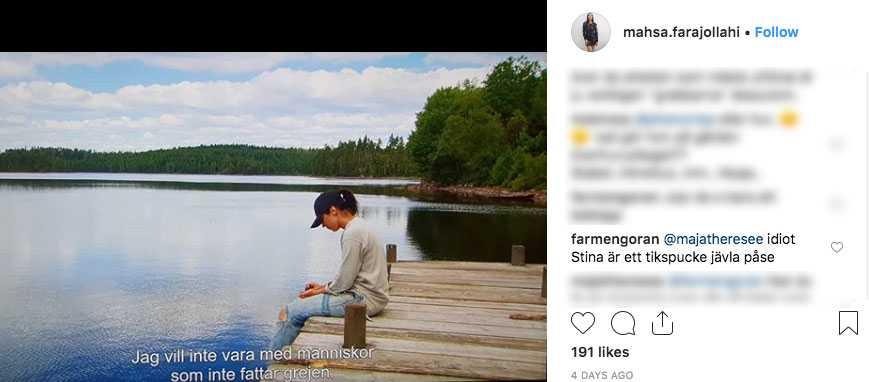 Från Mahsas Instagram.