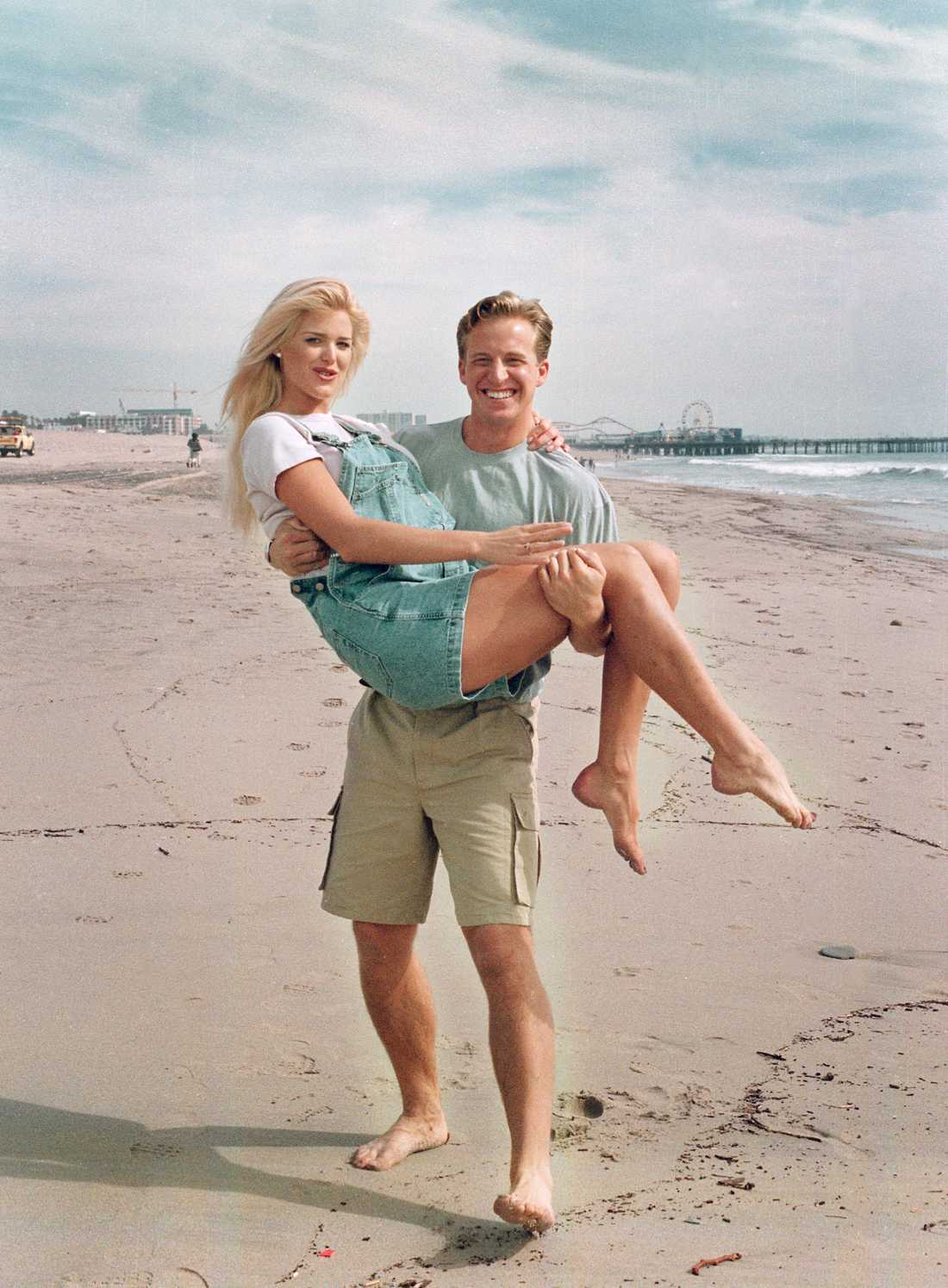 Victoria Silvstedt och Chris Wragge.