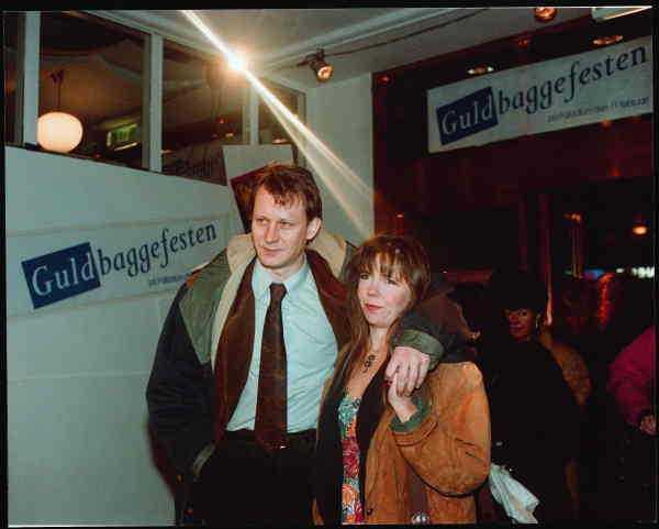 Stellan och My Skarsgård på Guldbaggegalan 1991.