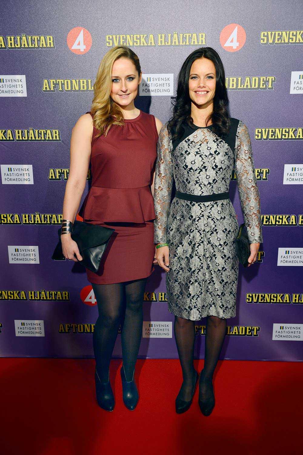 Sofia Hellqvist med sin syster Lina.