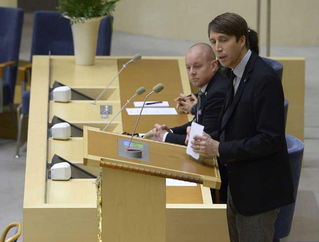 Richard Jomshof från Sverigedemokraterna som i dag inte lyckades fälla regeringen