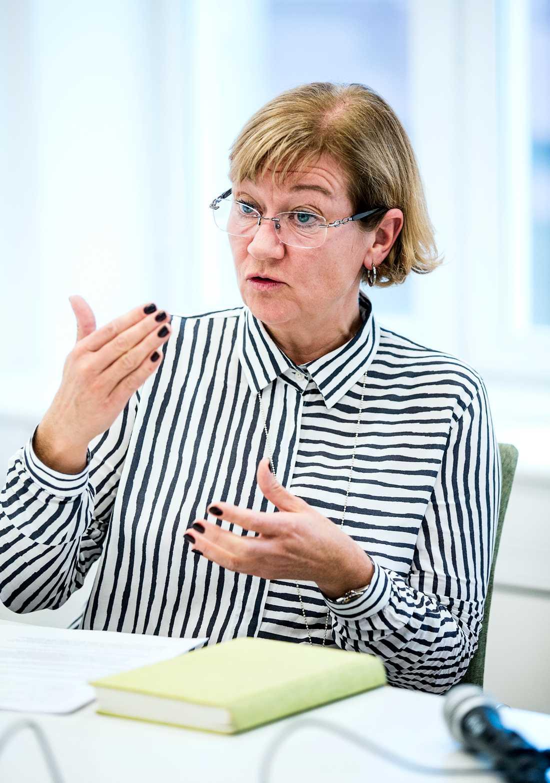 Förbundssekreteraren Johanna Hållén