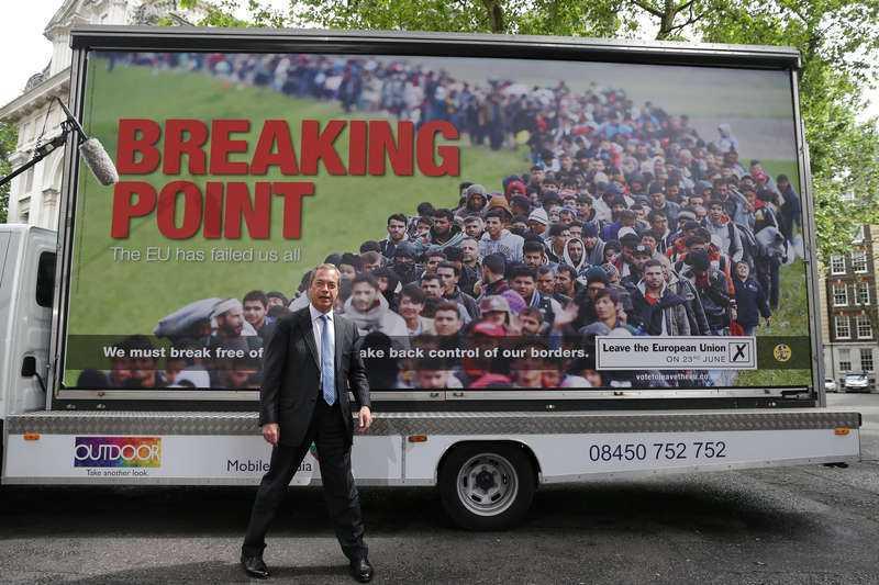KRITISERAD AFFISCH Ukip-kampanjen som lanserades förra veckan fick många brexit-anhängare att hoppa av, då den ansågs rasistisk.