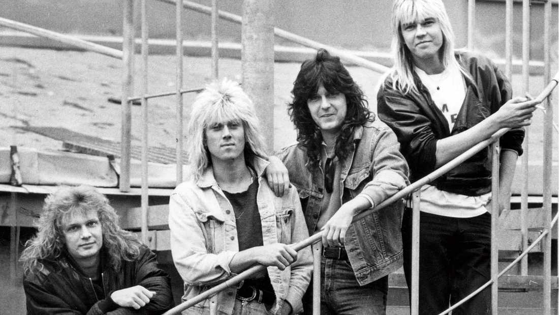 Easy Action 1986: Från vänster Tommy Nilsson, Freddy von Gerber, Kee Marcello och Chris Lind.