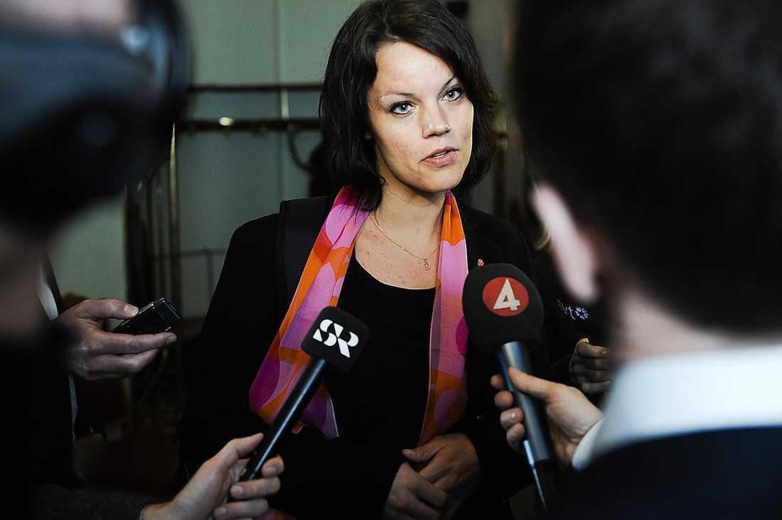 JA Veronica Palm, riksdagsledamot.