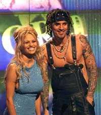 Pamela och Tommy på World Music Awards 1999.