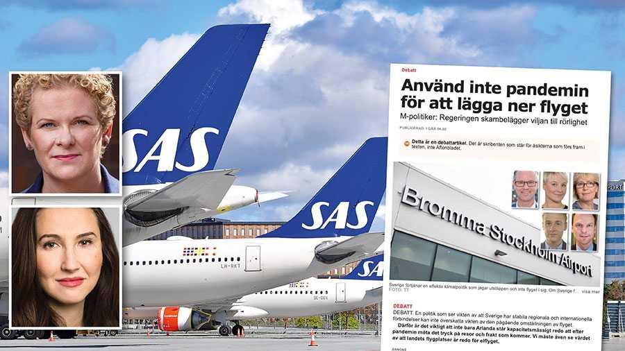 En avveckling av Bromma möjliggör en utveckling av Arlanda. Det är framtiden. Inte att av politiska skäl hålla liv i en olönsam flygplats utan utvecklingspotential, skriver Karin Wanngård och Aida Hadžialić.