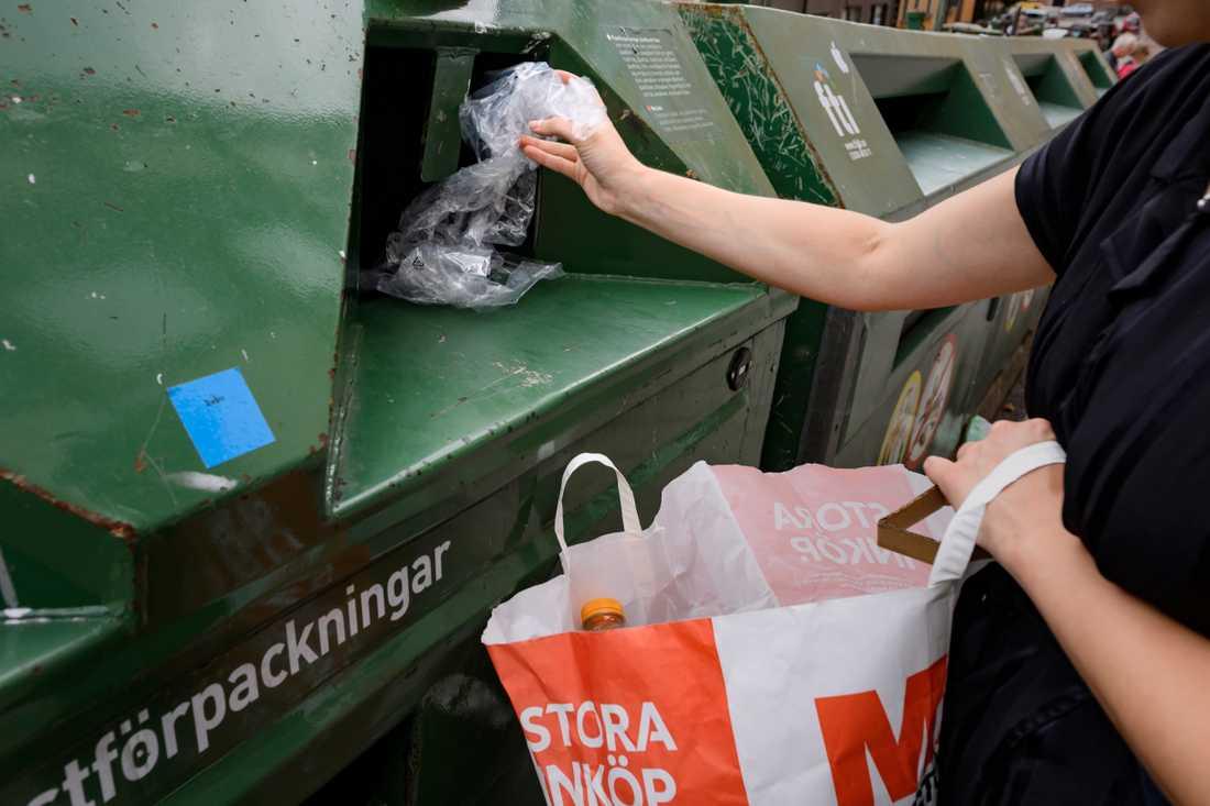 Visst, återvinning är bra, men det är inte tillräckligt för att rädda klimatet. Arkivbild.