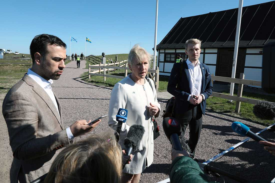 Margot Wallström i Backåkra.