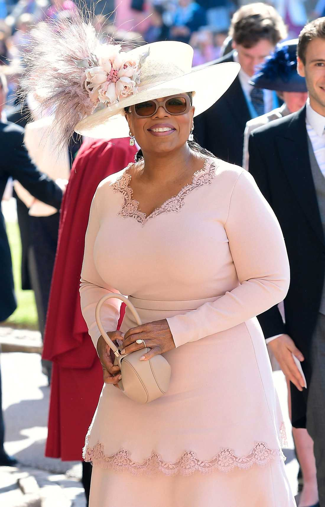 Oprah Winfrey anländer till St George's Chapel