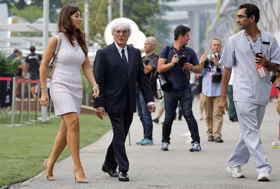 Fabiana Flosi och Bernie Ecclestone.