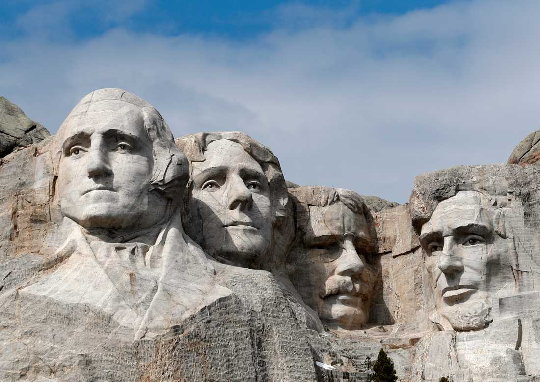 Monumentet Mount Rushmore i Keystone i South Dakota.