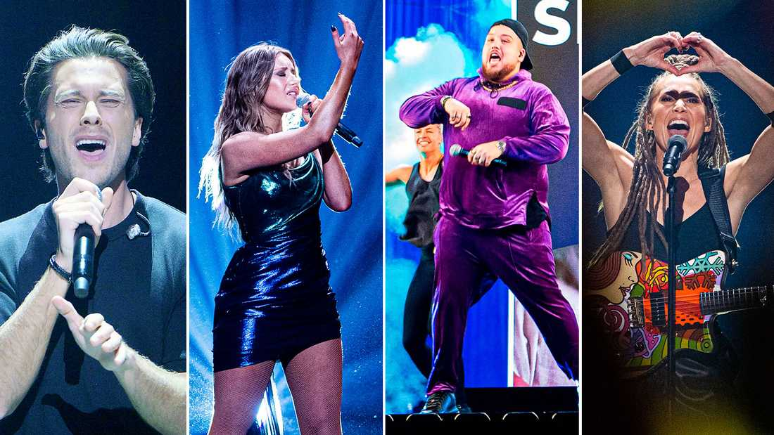 Victor Crone, Hanna Ferm, Anis Don Demina och Mariette är fyra av artisterna i finalen av Melodifestivalen 2020.