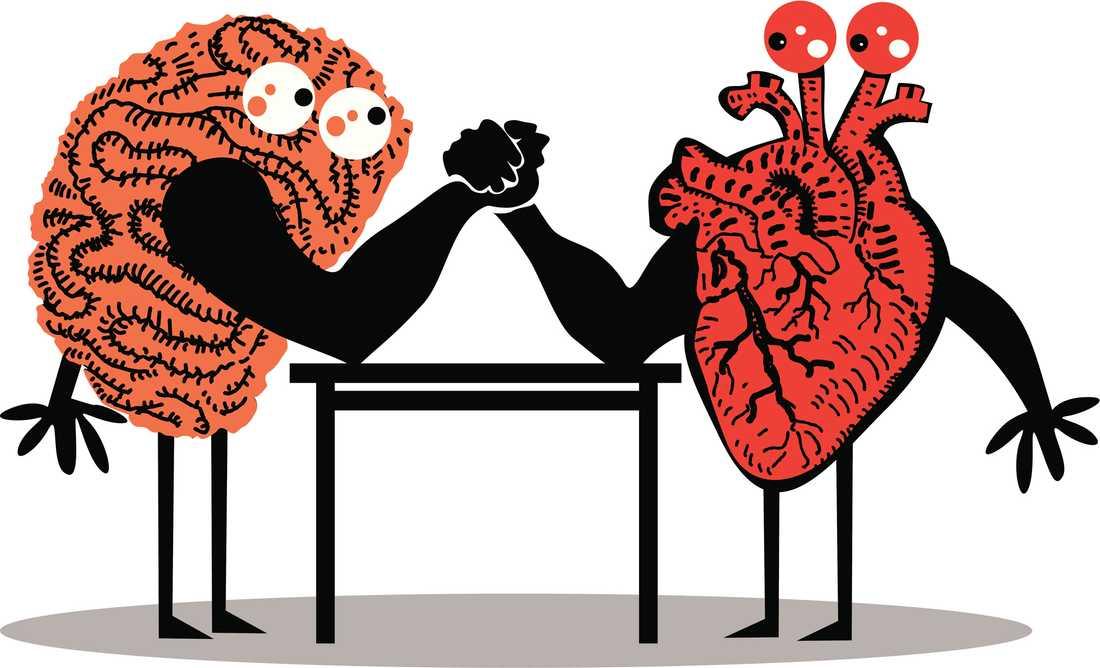 Hjärta VS Hjärna Ulrika Stahre tycker att det lyssnas för mycket på hjärtat. Två nya böcker går på hennes linje. Foto: Thinkstock
