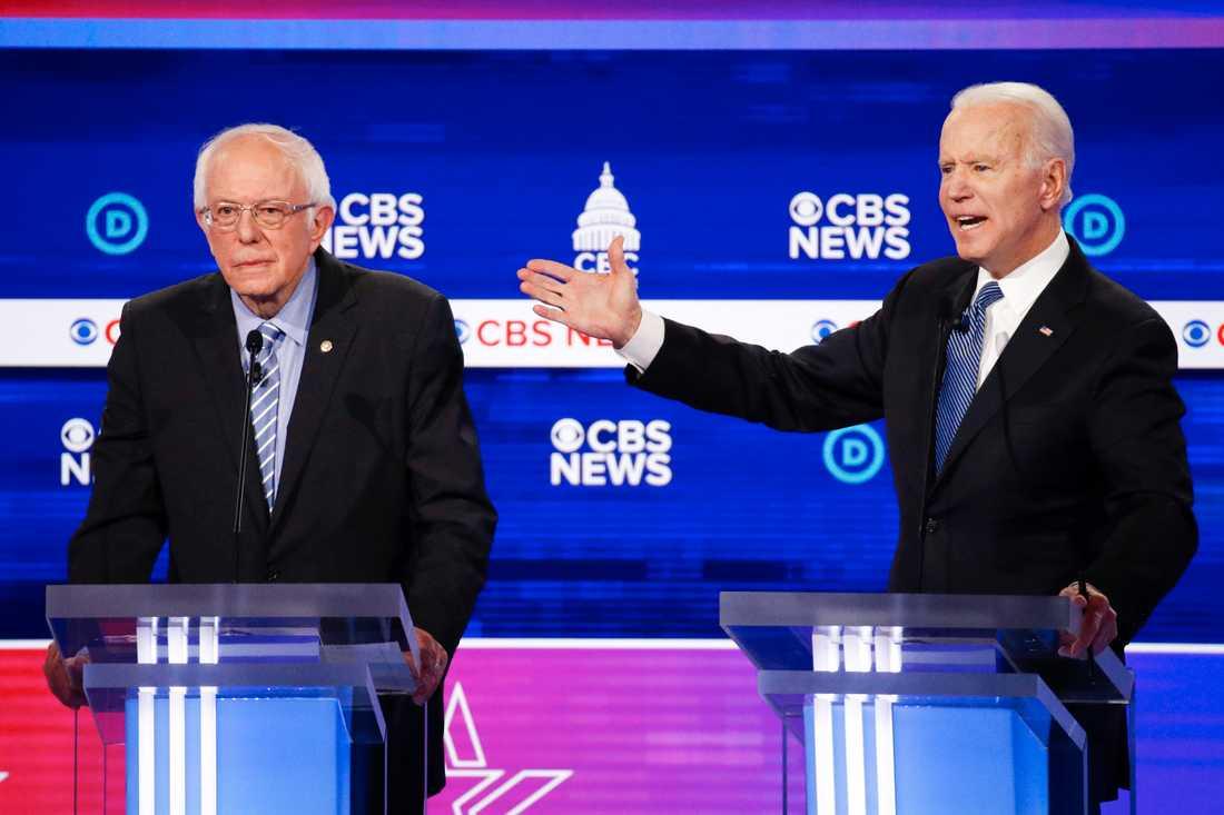 Bernie Sanders förlorade primärvalen i Michigan och Mississippi. Joe Biden vann.