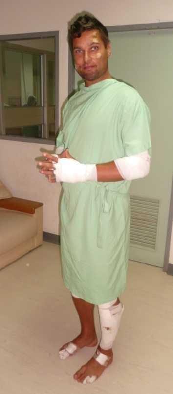 Janne på sjukhuset i Phuket.