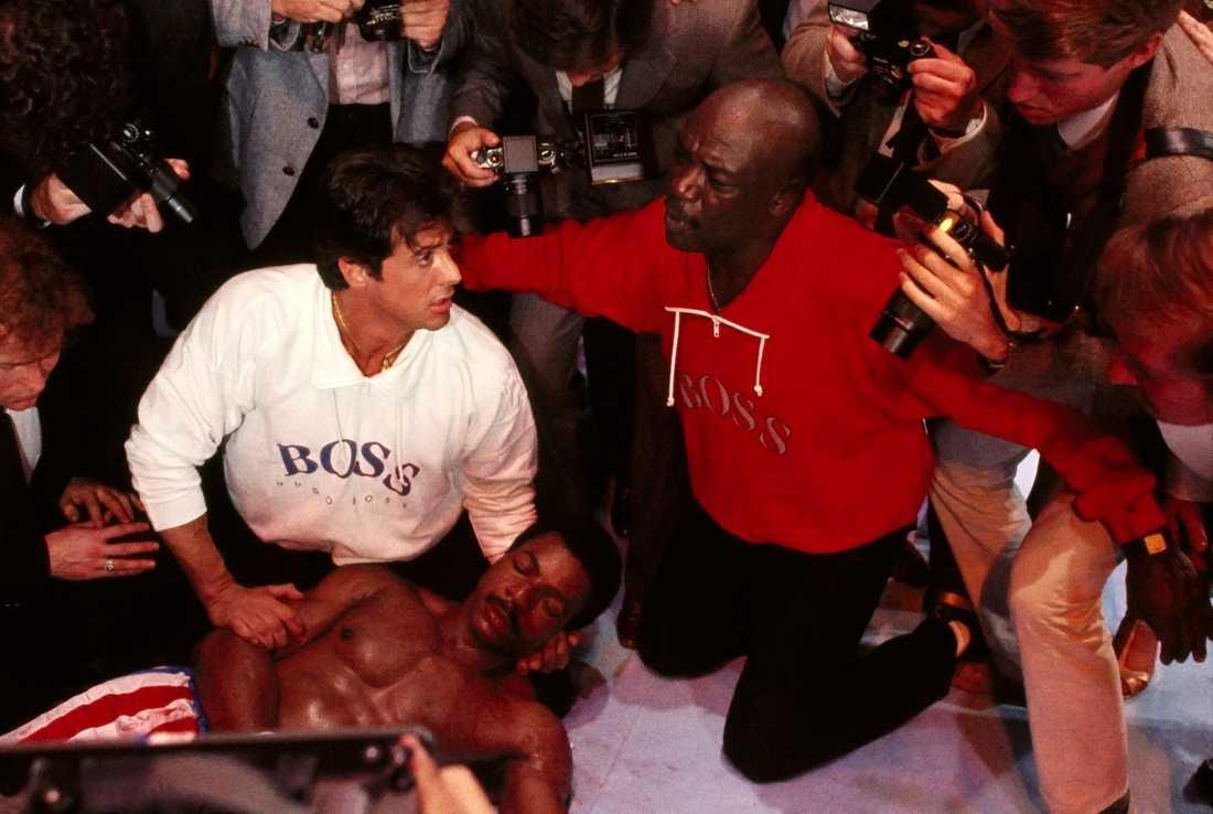 Sylvester Stallone, Carl Weathers, Tony Burton i ROCKY IV 1985