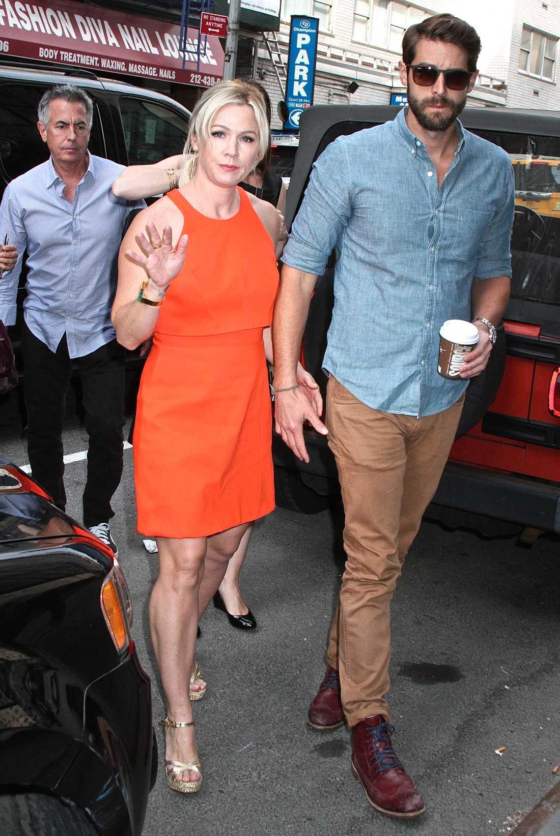 Jennie Garth och David Abrams.