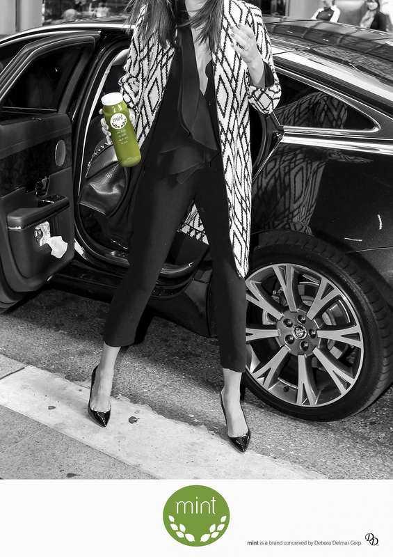 """Debora Delmar Corp: """"MINT Juice Ad"""", 2016. © Debora Delmar Corp"""
