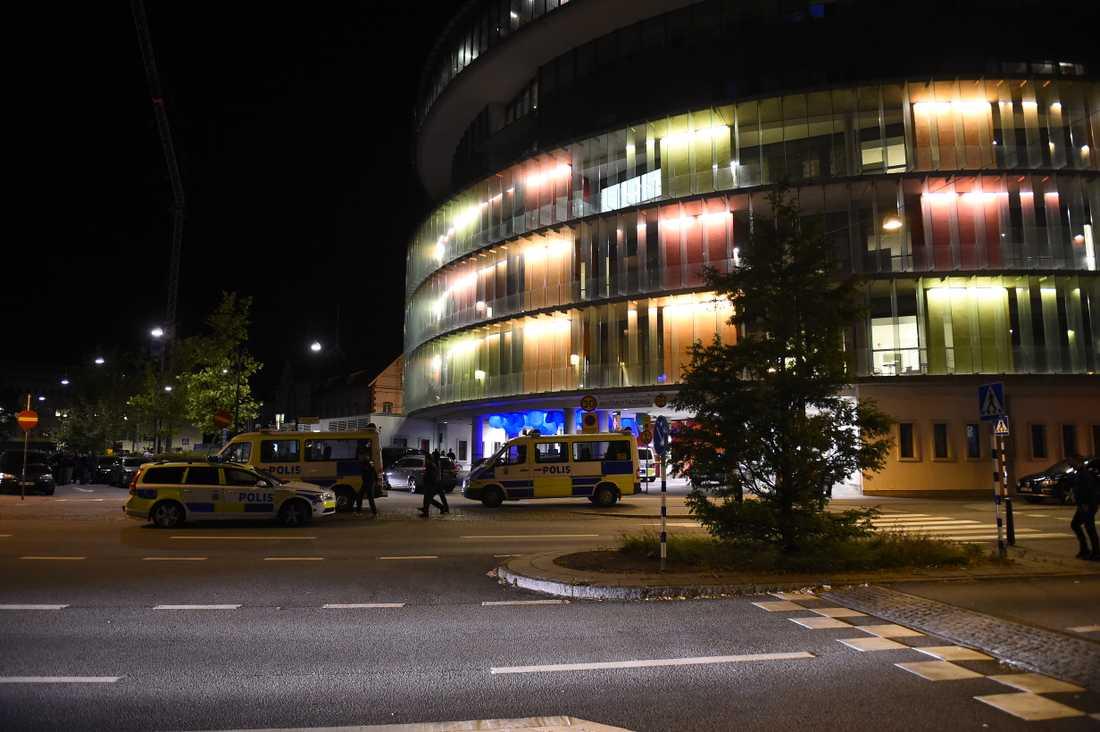 Skånes universitetssjukhus dit mannen med hjärnblödning fördes. Arkivbild.
