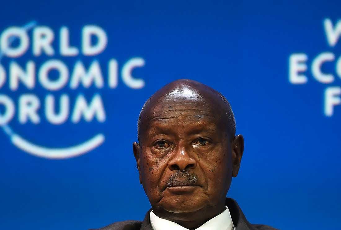 Ugandas president Yoweri Museveni. Arkivbild.