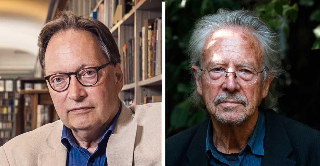 Horace Engdahl och Nobelpristagaren Peter Handke