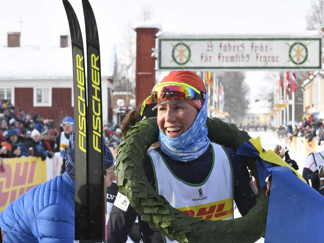 Katerina Smutna, Tjeckien, vann Tjejvasan på lördagen.